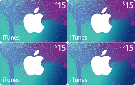 $60 iTunes Gift Card